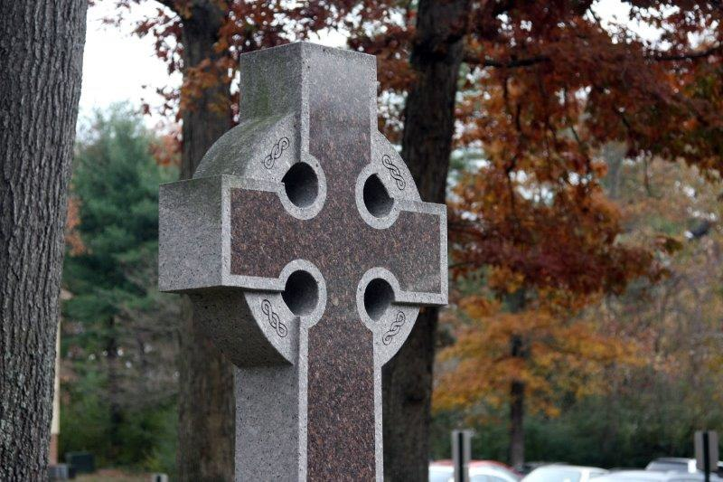 Celtic cross in Autumn