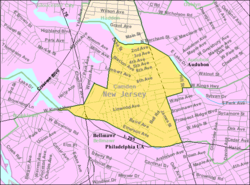 Census Bureau map of Mount Ephraim, New Jersey