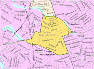 Mount Ephraim, New Jersey - Image: Census Bureau map of Mount Ephraim, New Jersey