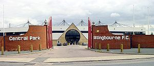 Sittingbourne F.C. - Central Park Stadium, the former home of Sittingbourne
