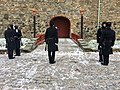 Changing of the guard (HMKG, Royal Guards) at Akershus fortress, Oslo, Norway. Winter uniforms. 2017-11-30 f.jpg