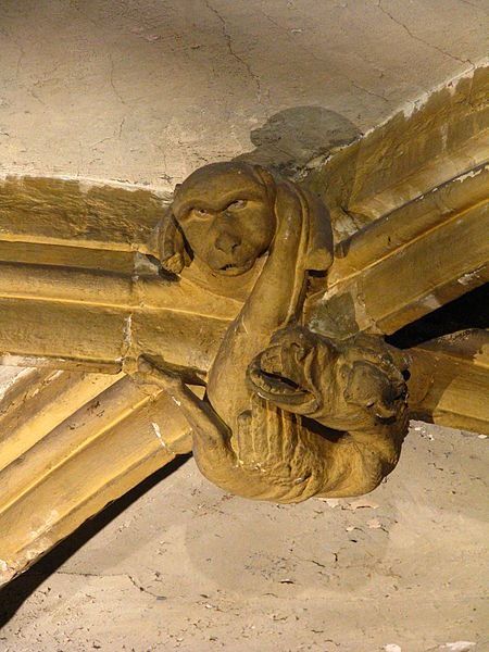 Clé de voûte dans la chapelle de la Miséricorde, 32, 34  rue de la Chèvre à Metz (France)