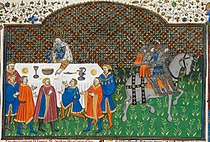 Charlemagne at dinner - British Library Royal MS 15 E vi f155r (detail).jpg