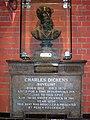 Charles Dickens bust, Watermans Square EC1 - geograph.org.uk - 1321953.jpg