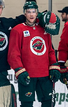 Charlie Coyle at Minnesota Wild open practice at Tria Rink in St Paul, MN.jpg