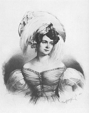 Charlotte Birch-Pfeiffer - lithograph by Franz Hanfstängl