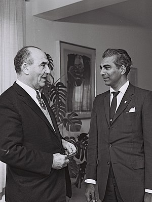 Cheddi Jagan - Cheddi Jagan meeting with Levi Eshkol during a visit to Israel in 1961