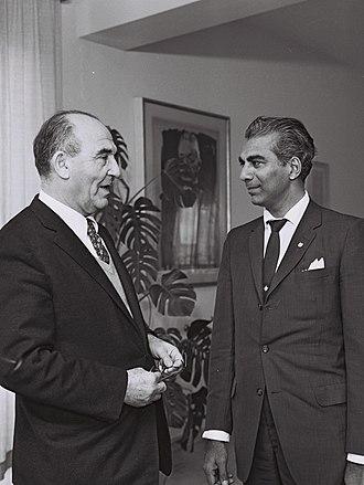 Cheddi Jagan - Cheddi Jagan meeting with Levi Eshkol during a visit to Israel in 1961