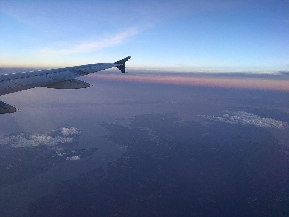 Chesapeake Bay from airplane