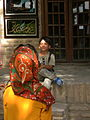 Children in Ribat-i-Abbasi of Nishapur (Hossein - Ali - Fatemeh - Hengameh and another girl - probably Afghani) 09.jpg