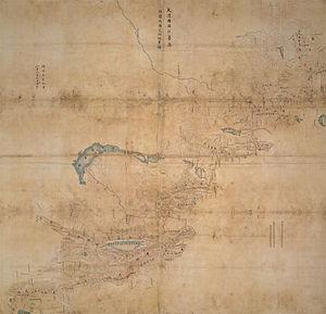 Lake Zaysan - Image: China Russia border protocol of Chuguchak 1864
