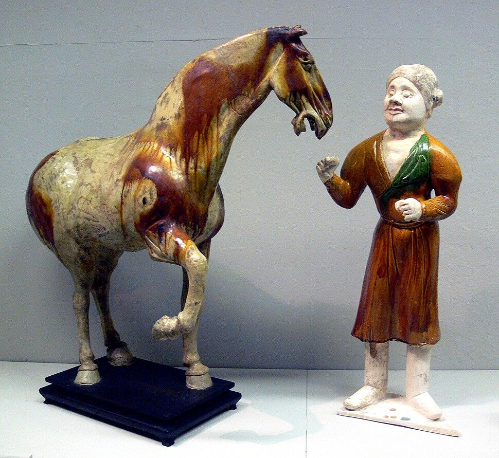 China Pferd und Pferdeknecht Linden-Museum