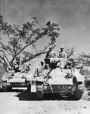 Chinese forces on M3 light tanks on the Ledo Road