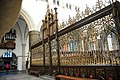 Chorus fence and gate with golden ornaments in the St Bavochurch Haarlem. The chorus was built already A.D. 1400. - panoramio.jpg