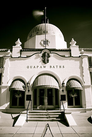"Hot Springs, Arkansas - The Quapaw Bathhouse, along Hot Springs' famed ""Bathhouse Row"""