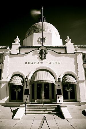 "Hot Springs, Arkansas - The Quapaw Bathhouse, along Hot Springs' famed ""Bathhouse Row"""