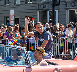 Chris Kluwe - Kluwe at LGBT pride parade in Washington, D.C. in 2014