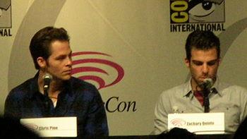 Chris Pine %26 Zachary Quinto at WonderCon 2009