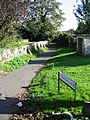 Church Lane footpath beside Sholden Church - geograph.org.uk - 585503.jpg
