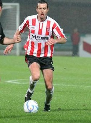 Ciarán Martyn - Martyn in action against his home-town club, Sligo Rovers, during the 2006 season.