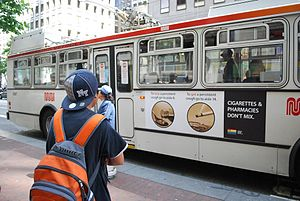 Tobacco-Free Pharmacies - Ad campaign against the sale of tobacco products in pharmacies, San Francisco, June 2008