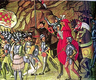 Spanish conquest of Oran (1509) - Cisneros entering Oran, by Juan de Borgoña.