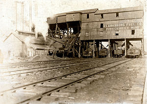 Tipple - A coal tipple in Clarksburg, West Virginia, in 1908
