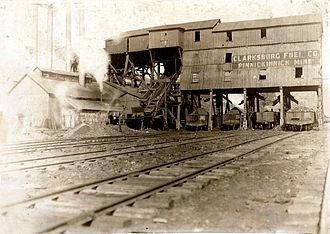 Tipple - A coal tipple in Clarksburg, West Virginia, in 1908