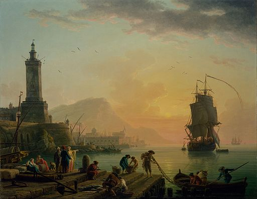 Claude-Joseph Vernet - A Calm at a Mediterranean Port - Google Art Project