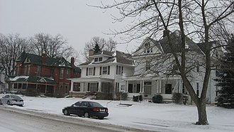 National Register of Historic Places listings in Clinton County, Indiana - Image: Clinton Street in Christian Ridge
