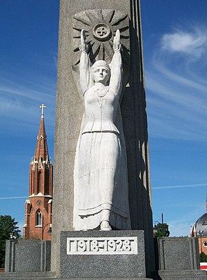 Rokiškis - Freedom Monument in Rokiškis