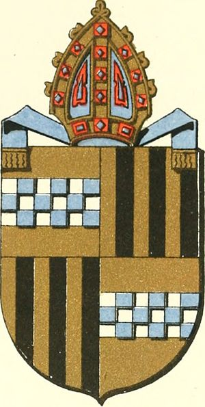 Andrew Stewart (bishop of Caithness, died 1541) - Image: Coat of arms of Andrew Stewart, Bishop of Caithness
