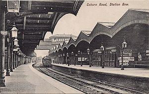 Coborn Road railway station - Image: Coborn Road railway station