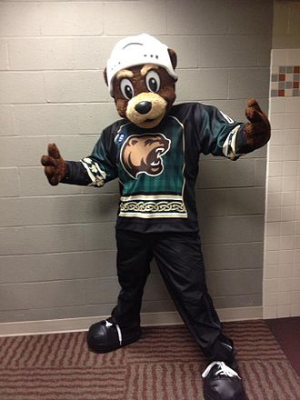 Hershey Bears - Coco with a special St. Patrick's Day jersey.