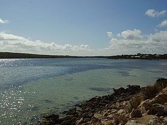 Coffin Bay - View down Coffin Bay Channel