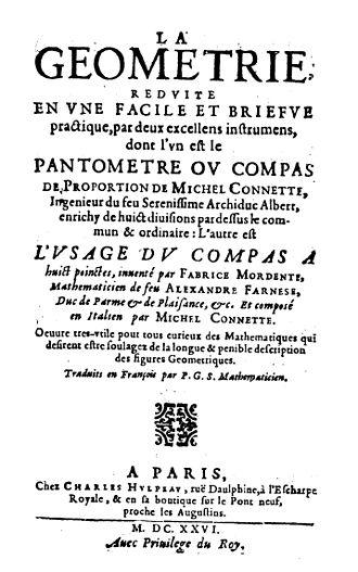 Michiel Coignet - Géometrie reduite en une facile et briefve practique par deux excellens instrumens, 1626