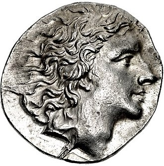 First Mithridatic War - A coin depicting Mithridates VI of Pontus.