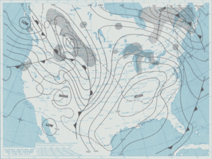 Cold Sunday - National Weather Service surface weather map from January 17, 1982.
