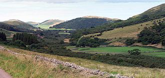 Northumberland National Park - Looking north down College Valley in the Cheviot Hills