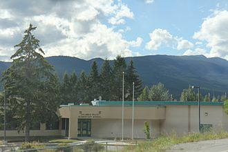Parson, British Columbia - The Columbia Valley Elementary School at Parson