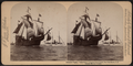 "Columbus' flagship ""Santa Maria,"" Columbus Naval parade, New York Harbor, U.S.A, from Robert N. Dennis collection of stereoscopic views 2.png"
