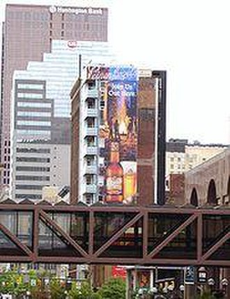 Columbus metropolitan area, Ohio - Columbus has numerous pedestrian skywalks linking together downtown buildings.