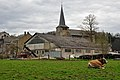 Comblain Fairon centre of the village with a cow.jpg