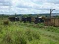 Comboio que saía sentido Guaianã do pátio da Estação Pimenta em Indaiatuba - Variante Boa Vista-Guaianã km 216 - panoramio.jpg