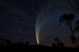 Comet McNaught as seen from Swift's Creek, Victoria on 23 January 2007