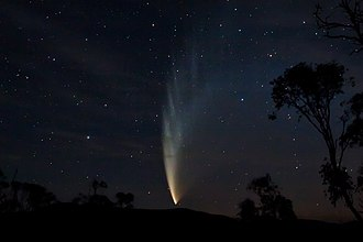 Naming of comets - Comet McNaught, named after its discoverer Robert H. McNaught. It is also known as the Great Comet of 2007 and has the numerical designation C/2006 P1.