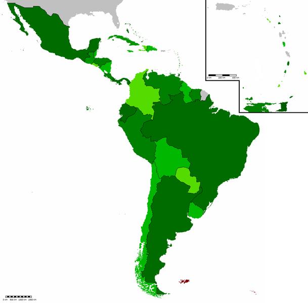 Ficheiro:Comunidad de Estados Latinoamericanos y Caribeños.PNG