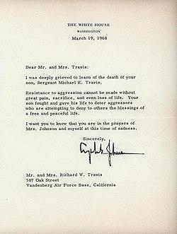 Condolence Letter, President Johnson, 1968 (5955673278).jpg