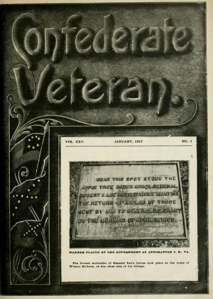 File:Confederate Veteran volume 25.djvu