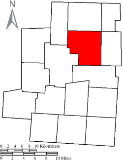 Location of Congress Township in Morrow County